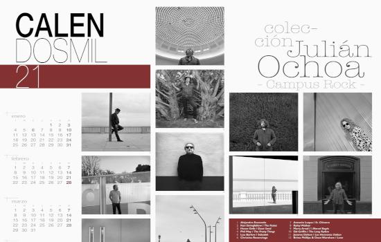 IMG El Servicio de Extensión Universitaria del Vicerrectorado de Cultura dedica su Calendosmil21 al fotógrafo Julián Ochoa y a su colección de retratos del programa Campus Rock